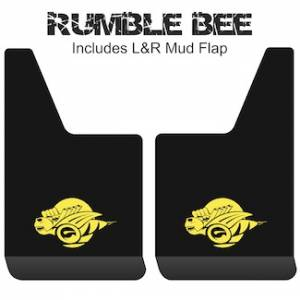 "Proven Design - Contour Series Mud Flaps 19"" x 12"" - Rumble Bee Logo"