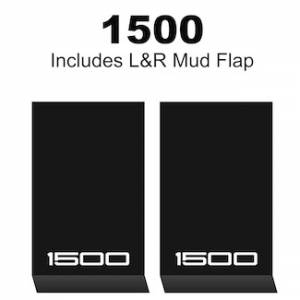 "Proven Design Mud Flaps with Logo's - HD Contour Series Mud Flaps 22"" x 13"" - 1500 Logo"