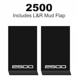 "Proven Design Mud Flaps with Logo's - HD Contour Series Mud Flaps 22"" x 13"" - 2500 Logo"