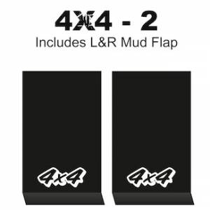 "Proven Design Mud Flaps with Logo's - HD Contour Series Mud Flaps 22"" x 13"" - 4 X 4 - 2 Logo"
