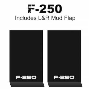 "Proven Design Mud Flaps with Logo's - HD Contour Series Mud Flaps 22"" x 13"" - F-250 Logo"