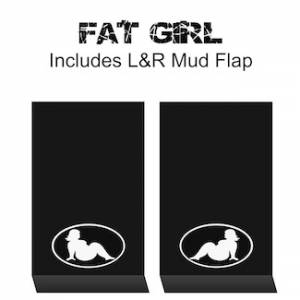 "Proven Design - HD Contour Series Mud Flaps 22"" x 13"" - Fat Girl Logo"