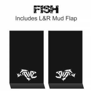"Proven Design Mud Flaps with Logo's - HD Contour Series Mud Flaps 22"" x 13"" - Fish Logo"