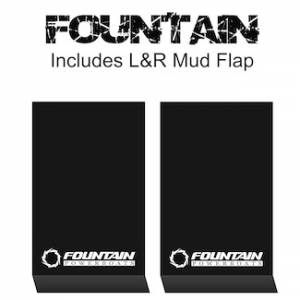 "Proven Design Mud Flaps with Logo's - HD Contour Series Mud Flaps 22"" x 13"" - Fountain Logo"