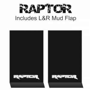 "Proven Design Mud Flaps with Logo's - HD Contour Series Mud Flaps 22"" x 13"" - Raptor Logo"