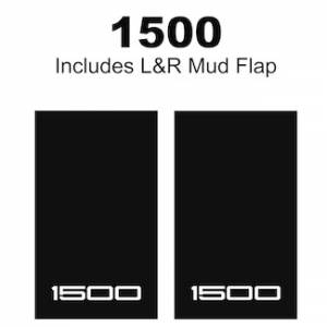 "Proven Design Mud Flaps with Logo's - Heavy Duty Series Mud Flaps 22"" x 13"" - 1500 Logo"