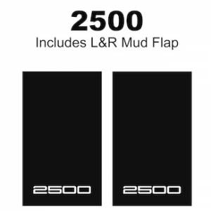 "Proven Design - Heavy Duty Series Mud Flaps 22"" x 13"" - 2500 Logo"