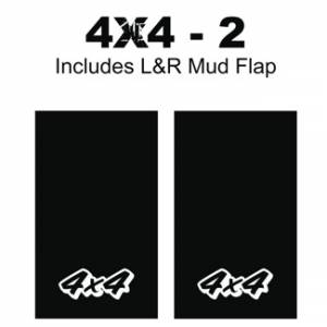 "Proven Design - Heavy Duty Series Mud Flaps 22"" x 13"" - 4 X 4 - 2 Logo"