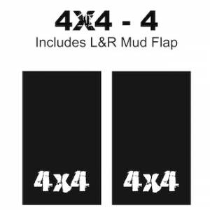 "Proven Design Mud Flaps with Logo's - Heavy Duty Series Mud Flaps 22"" x 13"" - 4 X 4 - 4 Logo"