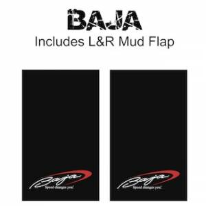 "Proven Design Mud Flaps with Logo's - Heavy Duty Series Mud Flaps 22"" x 13"" - Baja Logo"