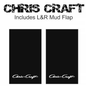 "Proven Design - Heavy Duty Series Mud Flaps 22"" x 13"" - Chris Craft Logo"