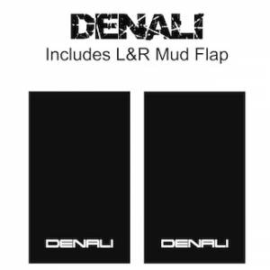 "Proven Design Mud Flaps with Logo's - Heavy Duty Series Mud Flaps 22"" x 13"" - Denali Logo"