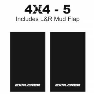 "Proven Design Mud Flaps with Logo's - Heavy Duty Series Mud Flaps 22"" x 13"" - Explorer Logo"