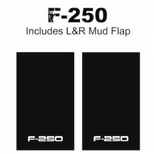 "Proven Design Mud Flaps with Logo's - Heavy Duty Series Mud Flaps 22"" x 13"" - F-250 Logo"