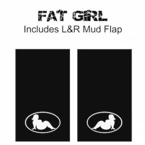 "Proven Design - Heavy Duty Series Mud Flaps 22"" x 13"" - Fat Girl Logo"