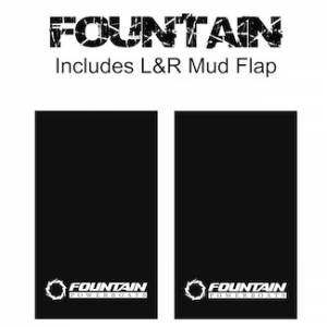 "Proven Design Mud Flaps with Logo's - Heavy Duty Series Mud Flaps 22"" x 13"" - Fountain Logo"