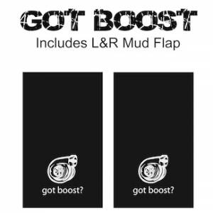 "Proven Design Mud Flaps with Logo's - Heavy Duty Series Mud Flaps 22"" x 13"" - Got Boost Logo"