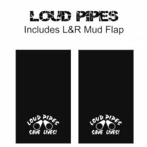 "Proven Design - Heavy Duty Series Mud Flaps 22"" x 13"" - Loud Pipes Logo"