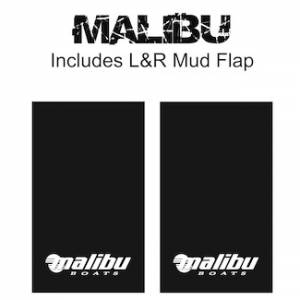 "Proven Design Mud Flaps with Logo's - Heavy Duty Series Mud Flaps 22"" x 13"" - Malibu Logo"