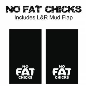 "Proven Design - Heavy Duty Series Mud Flaps 22"" x 13"" - No Fat Chicks Logo"