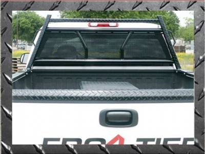 Frontier Diamond Series Headache Rack - Chevy/GMC - Frontier Gear - Frontier Gear 500-29-9003 Diamond Series Headache Rack Chevy/GMC 1500/2500/3500HD Full Punch Plate With Lights (1988-2013)
