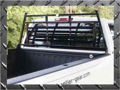 Frontier Light Duty Headache Rack - Chevy/GMC - Frontier Gear - Frontier Gear 110-00-0003 Light Duty Headache Rack Toyota Tundra Crew Cab Full Louvered (2007-2013)