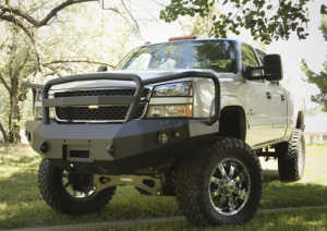 Bumpers - FAB Fours Bumpers | Full Grille Guard | Winch Ready - Chevy