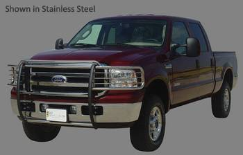 Go Industries Grille Shield Grille Guard - Go Industries Grille Shield for Ford - GO Industries - Go Industries 49637 Black Grille Shield Grille Guard Ford F-150 (Will not fit FX2 Sport or Harley Davidson) (2004-2008)