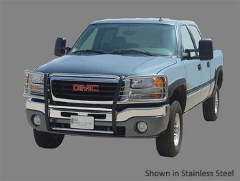 Go Industries Grille Shield Grille Guard - Go Industries Grille Shield for GMC - GO Industries - Go Industries 49745 Black Grille Shield Grille Guard GMC Sierra 1500  (2007-2011)
