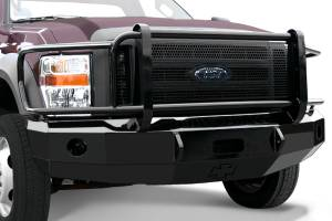 MDF Exterior Accessories - Bumpers - Iron Cross Front Bumper | Full Grille Guard | Winch Ready