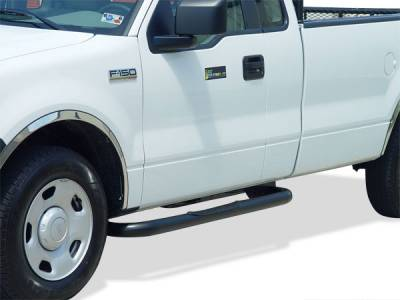 Cab Length Nerf Bars in Black - Toyota - GO Industries - Go Industries 8792B Black Cab Length Nerf Bars Toyota Tacoma Double Cab (Short Bed Only) (2005-2007)