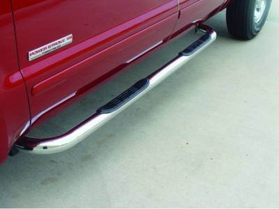 Cab Length Nerf Bars in Stainless steel - Dodge - GO Industries - Go Industries 29745 Stainless Steel Cab Length Nerf Bars Dodge Dakota Quad Cab (2000-2004)