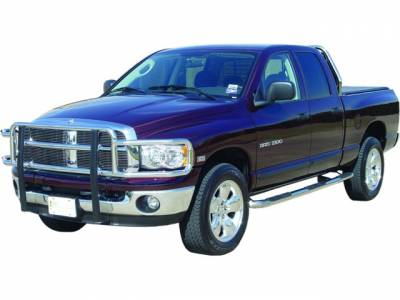 Wheel to Wheel Nerf bars in Stainless Steel - Dodge - GO Industries - Go Industries 9360 Stainless Steel Wheel to Wheel Nerf Bars Dodge Ram 3500 Quad Cab Short Bed (2003-2009)