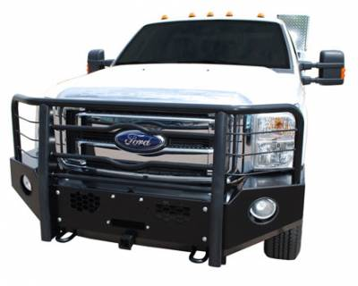 Luverne Defender Series Bumpers - Luverne Defender Series Front Bumpers - Luverne - Luverne 180822 Black Defender Series Front Bumper Ford HD 2007-2013