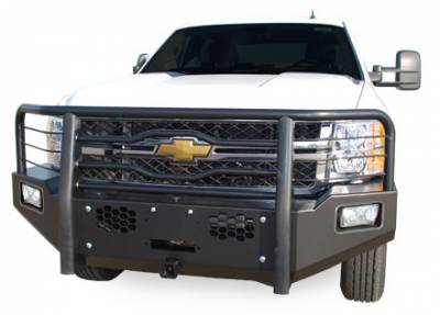 MDF Exterior Accessories - Bumpers - Luverne - Luverne 181142 Black Defender Series Front Bumper Chevy/GMC Sierra 2011-2013