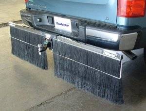 Mud Flaps for Trucks - Towtector Brush System - Towtector Chrome Rock Guard (Chrome Frame)