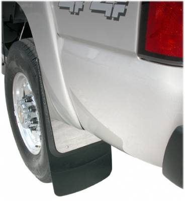 "Contoured Stainless Steel Mud Flaps - Chevy and GMC Trucks - Luverne - Luverne 509913 Contoured Stainless Steel Truck Mud Flaps Chevy/GMC 1999-2006 Front or Rear 12"" x 23"""