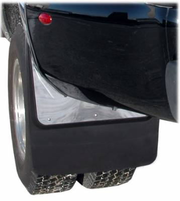 "Shop Dually Mud Flaps - Ford F350 Super Duty - Luverne - Luverne 509924 Contour Stainless Steel Dually Mud Flaps Ford Super Duty 1999-2010 20"" x 23"" Rear"