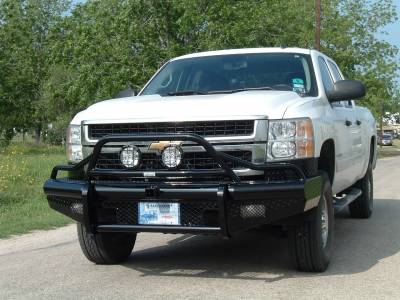 Ranch Hand Front Bumpers - Summit Front Bumper Bullnose (15K Winch Ready) - Ranch Hand - Ranch Hand BTG085BLR Sport Front Bumper Bullnose (15K Winch Ready) GMC 2500HD/3500HD (2007-2010)