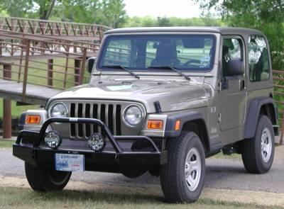MDF Exterior Accessories - Bumpers - Ranch Hand - Ranch Hand BTJ971BLR Bullnose Front Bumper Jeep TJ Wrangler (1997-2006)