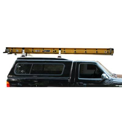 Vantech Truck Racks - Pickup Toppers & Cap Racks - Vantech - Vantech H1093W 2 Bar System White Aluminum (42-45 Inch Width) Pickup Toppers & Caps Universal
