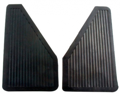 "Mud Flaps by Vehicle - Mud Flaps for Trucks - Contura-Highland - Highland 1058700 13"" X 7"" Rubber Mud Flaps Pair"