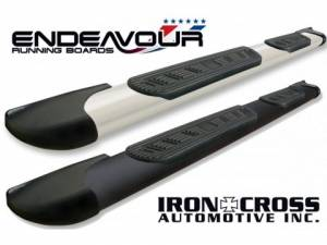 "MDF Exterior Accessories - Running Boards | Nerf Bars - Iron Cross Endeavour Running Boards | 5"" Wide Step Bars"