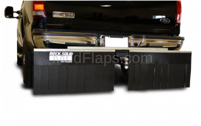 "Mud Flaps for Trucks - Rock Solid Hitch Mud Flaps - Rock Solid - Rock Solid 00011 Truck Hitch Mud Flap System 68"" x 14"""