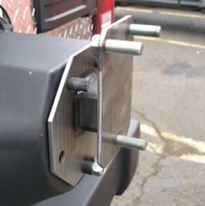 MDF Exterior Accessories - Tire Carriers - Warrior Tailgate Tire Spacer