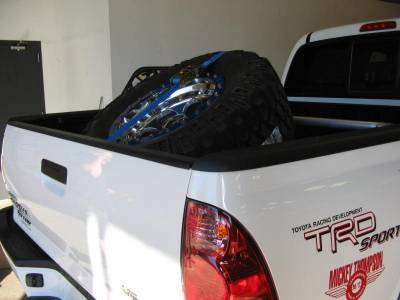 Tire Carriers - N-Fab Tire Carriers - N Fab - N Fab BM1TCBL Universal Tire Carrier with Blue Strap