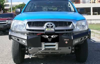 VPR 4x4 Bumpers - Hilux Vigo - VPR 4x4 - VPR 4x4 PD-058 Front Bumper Rally Hilux Vigo (Kavak) 2005-2010