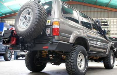 MDF Exterior Accessories - Bumpers - VPR 4x4 - VPR 4x4 PT-001 Rear Bumper Serie 80 Autana 1990-1997