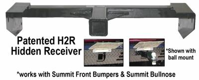 Ranch Hand Front Bumpers - Summit Bullnose Front Bumper - Ranch Hand - Ranch Hand RHD03HBL1 H2R Summit Receiver Hitch Dodge