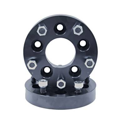 "Search Alloy Wheels - Rugged Ridge Wheels and Spacers - Rugged Ridge - Rugged Ridge 15201.04 125"" Wheel Adapter Kit Converts 5 On 45 To 5 On 55 Pair"